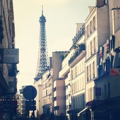 Paris. Looks like the view from the street near my favorite little hotel in the 7th. How I'd love to go back.