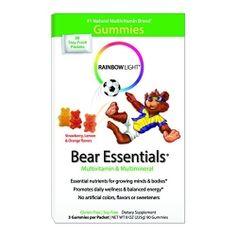 Rainbow Light Bear Essentials Multivitamin & Multimineral Gummies {Review} | Michigan Mom Living {Affil Link}