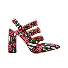 The New Party Shoes to Try Now   Charlotte Olympia Amanda Rose Printed Triple Strap Heels