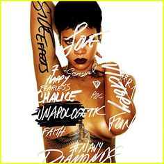 Rihanna releases the artwork for her newly announced album Unapologetic
