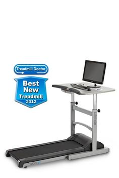 How cool, a treadmill desk.... Work and run at the same time.