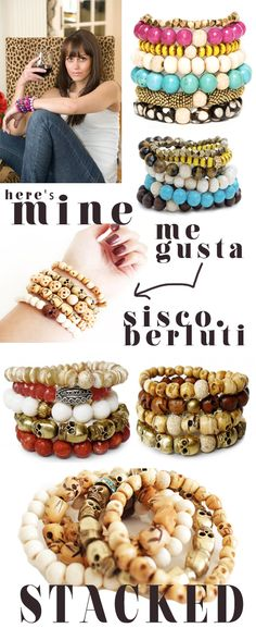 Love these bracelets that I found on design blog Made by Girl. Love how you can stack these and wear them different for any outfit!:)
