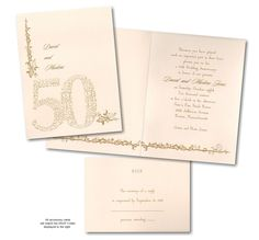 Occasion for Celebration 50th Anniversary Invitation