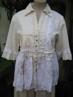 Vintage Kitty... ROMANTIC.. linen and by sistersroseandruby, $345.00