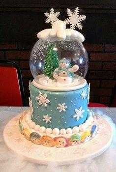 Cupcakes christmas decorations snow globes ideas for 2019 Snow Globe Cupcakes, Globe Cake, Mini Tortillas, Christmas Cupcakes Decoration, Christmas Cookies, Cupcake Birthday Cake, Cupcake Cakes, Fondant, Fantasy Cake