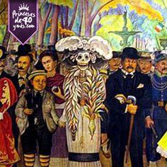 """El muralista Diego Rivera deja como legado un sin número de murales los cuales puedes ir  visitar por toda la Ciudad de México. Uno de los más bonitos a mi parecer es el de """"Sueño de una tarde dominical en la Alameda Central"""" lleno de colores y texturas. Este mural lo puedes encontrar en el Museo Mural Diego Rivera en el Centro de la Ciudad. #Cultura #PrincesasDe40 #Muralismo"""