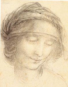 Head of Saint Anne, 1510-5 Leonardo da Vinci