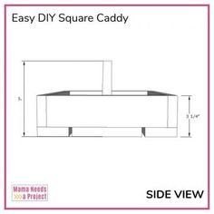 Free woodworking plans and tutorial to build a simple DIY square caddy with a handle. Great project for beginner woodworkers! House Furniture Design, Crate Furniture, Furniture Making, Silverware Caddy, Plastic Silverware, Woodworking Plans, Woodworking Projects, Wall Ladders, Ladder Desk