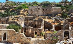 The buildings on Spinalonga Island, Crete. 10 abandoned places you can still visit.