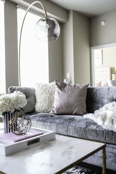 Modern Apartment- Pink and Grey Decor