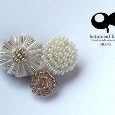 ohana brooch - fluffball white