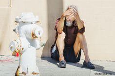 Man Sitting In The Street In The Tenderloin, San Francisco By Mitchell Funk  www.mitchellfunk.com
