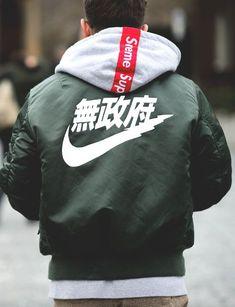 NIKE Jacket & Supreme Hoodie #streetwear #menstyle jetzt neu! ->. . . . . der Blog für den Gentleman.viele interessante Beiträge - www.thegentlemanclub.de/blog