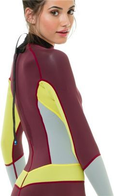 out Girl naked wetsuit getting of