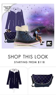"""""""Kick Up the Leaves (Stylishly) With SOREL: CONTEST ENTRY"""" by wackyworkshop ❤ liked on Polyvore featuring SOREL, men's fashion, menswear and sorelstyle"""