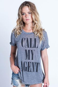 Local Celebrity Call My Agent Schiffer Tee in Heather Grey need this