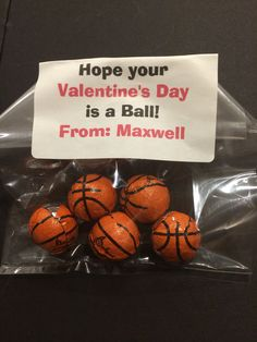 Valentine for a basketball fan