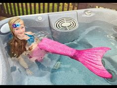 The day Princess Ella become a real mermaid. She has to be rescued by Batman. W/ blind bags - YouTube