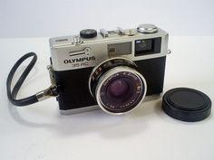 1970 S VINTAGE OLYMPUS 35 RC 35MM RANGEFINDER COMPACT WORKING CAMERA & BATTERY