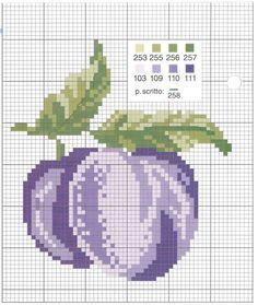 Cross Stitch Fruit, Cross Stitch Kitchen, Cross Stitch Cards, Cross Stitch Borders, Cross Stitch Rose, Cross Stitch Flowers, Cross Stitch Designs, Cross Stitching, Cross Patterns