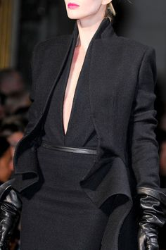 I like, but would adjust the neckline or something!! Haider Ackermann Fall 2012