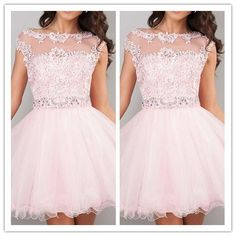 Pink Homecoming Dresses/Homecoming Dress/Cute Colorful Homecoming Dresses #H024