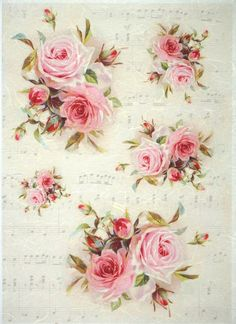 Rice Paper for Decoupage, Scrapbook Sheet, Craft Vintage Red Roses is part of Paper crafts Vintage - Decoupage Vintage, Decoupage Art, Vintage Diy, Vintage Cards, Vintage Paper, Shabby Vintage, Tissue Paper Crafts, Paper Napkins For Decoupage, Paper Scrapbook