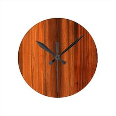 Chestnut Distressed wood grain floor Round Wall Clock