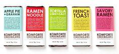 Komforte chocolate, unusual flavors.