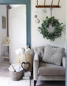 The White Company – Home Look Book… The White Company, Style At Home, Home Look, Style Blog, Christmas Interiors, Christmas Home, Country Christmas, White Christmas, My Living Room