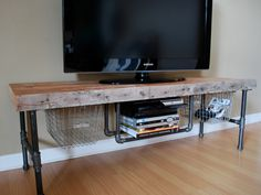 Table Wood Tv Standsdiy Pipepipe