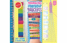 Klutz Personalized Friendship Bracelets and thousands more of the very best toys at Fat Brain Toys. Clearly written and accompanied by vivid illustrations, this playful how-to book makes it easy for kids to understand and put to use the real skills behind weaving custom bracelets. It's as easy as tying a knot!