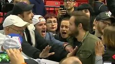 """Republican presidential candidate Donald Trump canceled one of his signature rallies Friday, saying he didn't want to see """"people get hurt"""" after protesters packed into the Chicago arena where it was to take place."""