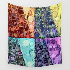 Colorful Tapestry, Society 6 Tapestry, Inspirational Wall Art, Vinyl Wall Art, Day For Night, Wall Tapestries, Home Wall Decor, Duvet Sets, Pillows