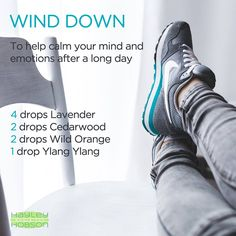 We all need help winding down after a long day sometimes. Whether it's stress at work, at home, or just a long on the job or with the kids, try diffusing the LAVENDER, CEDARWOOD, WILD ORANGE, and YLANG YLANG essential oils! It's an AMAZING blend! www.hayleyhobson.com