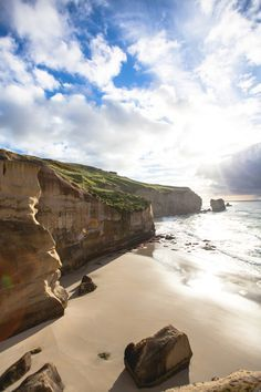 Tunnel Beach, Dunedin, New Zealand (http://www.livinginanotherlanguage.com) #travel #newzealand #photography