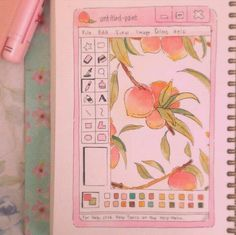 Imagem de peach, pink, and aesthetic