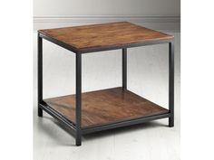 Industrial Mansard Side End Table Black-Home And Garden Design Ideas