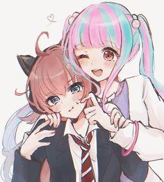 Anime Girlxgirl, Yuri Anime, Sakura Card Captor, Anime Sisters, Dream Anime, Pastel Palette, Dream Art, Darling In The Franxx, Cute Anime Character