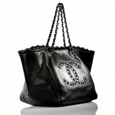 Chanel Black Lambskin Pearl Obsession Tote Bag, Limited Edition