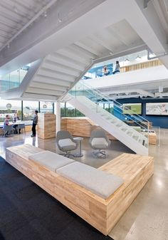 Office Design Inspiration: Though Acxiom has been in business 40+ years, their desire for a space that reflects the company's future drove many of the choices their team made with O+A.
