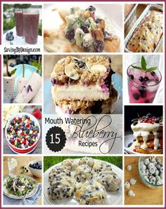 See all the delicious recipes we'll be trying with our fresh picked blueberries! | SavingByDesign.com