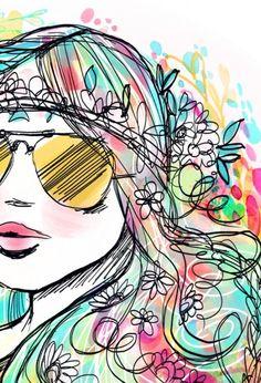 RUMA♥ZIHOZAYO myevelina:  (via vibrant, bohemian, and intricate art — Stephanie Corfee)