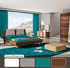 teal and black bedrooms ideas - Google Search