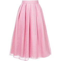 Jupe By Jackie Falls skirt (€535) ❤ liked on Polyvore featuring skirts, midi skirt, pink, saia and pink skirt