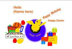 Birthday at Easter name added front