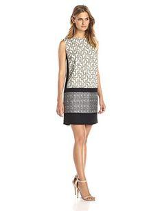 DKNYC Women's Mixed Fabric Shift Dress, Chalk, 0 DKNYC http://www.amazon.com/dp/B00ZHX1Y0U/ref=cm_sw_r_pi_dp_.nwowb1RC4H7R