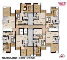 Neelmohar : B Block Third Floor Plan