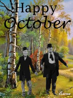 Stan Laurel and Oliver Hardy do the happy dance Laurel Et Hardy, Stan Laurel, Animiertes Gif, Animated Gif, Photo Star, Happy October, Happy Dance, Gif Pictures, Dance The Night Away