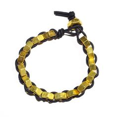 Tor Bracelet - Black     Sweet like honeycomb with an extra helping of undeniable ruggedness, the handsome and handmade Tor Bracelet is a perfect paradigm of IAMAMIA's industrial design aesthetic.